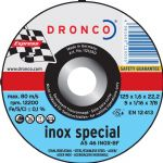 DRONCO '1.6 mm Inox Special' Flat Metal Cutting Discs 4 1/2""